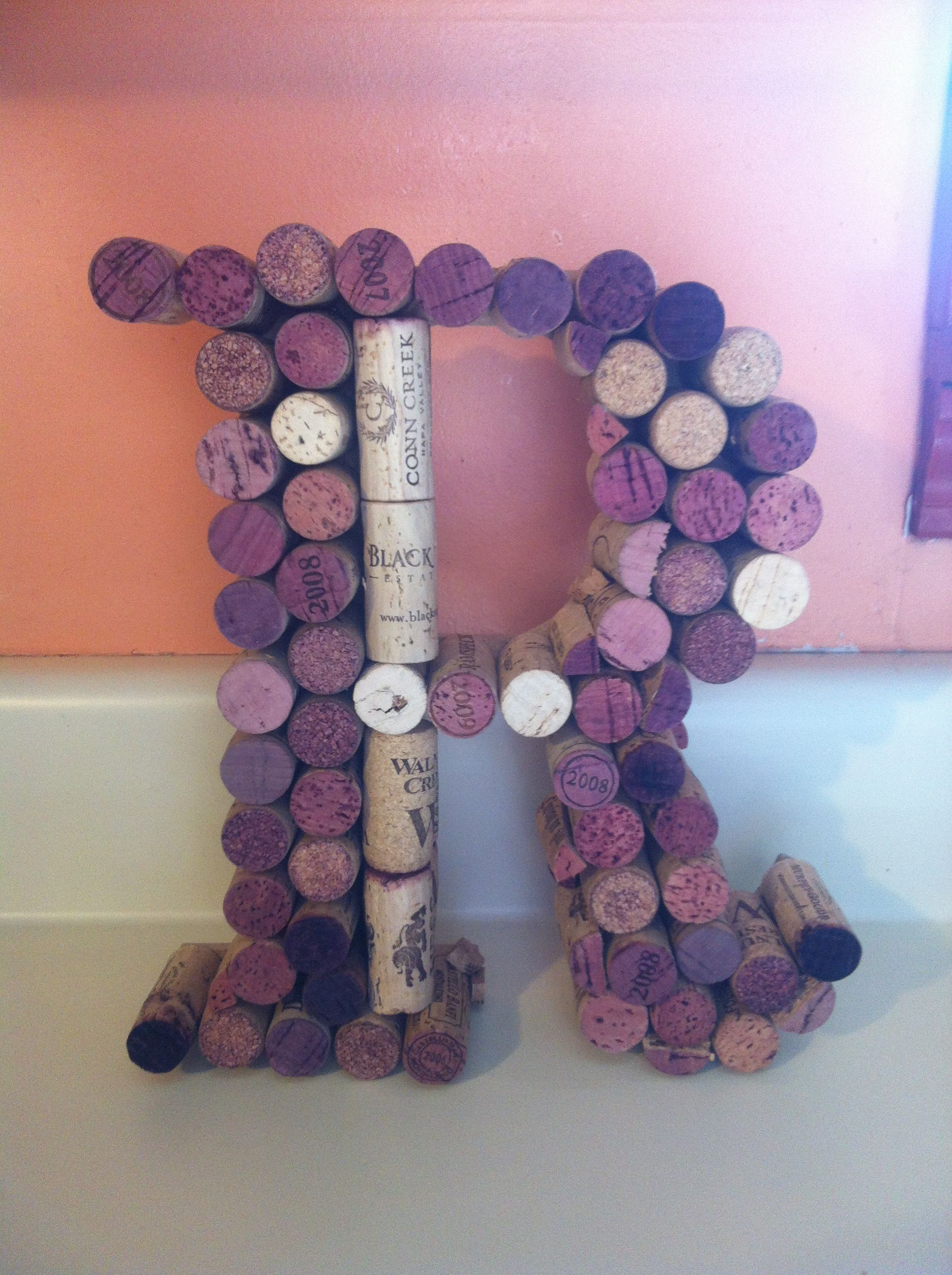 Wine cork letter R Love Wine cork