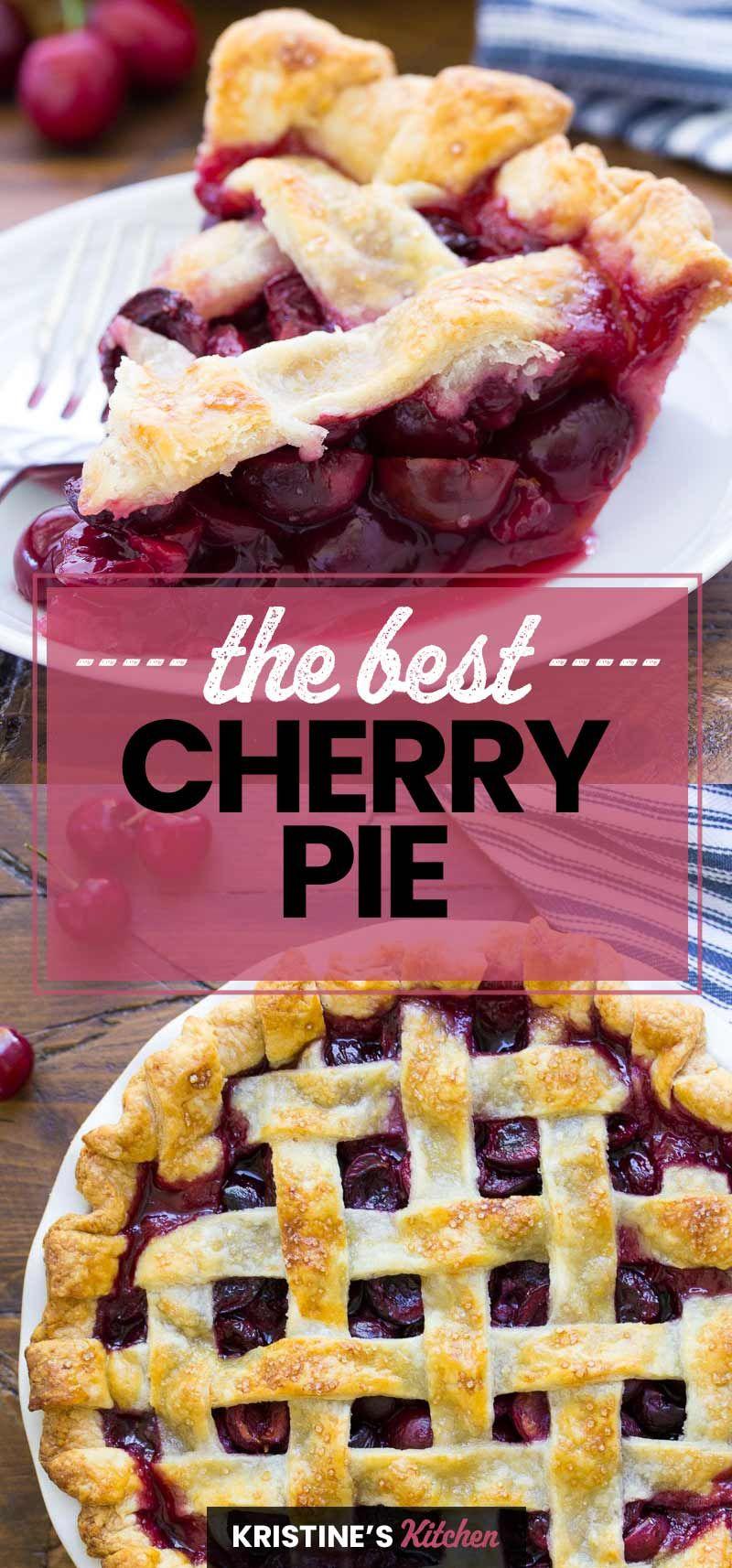 Cherry Pie Recipe - The BEST Homemade Cherry Pie!