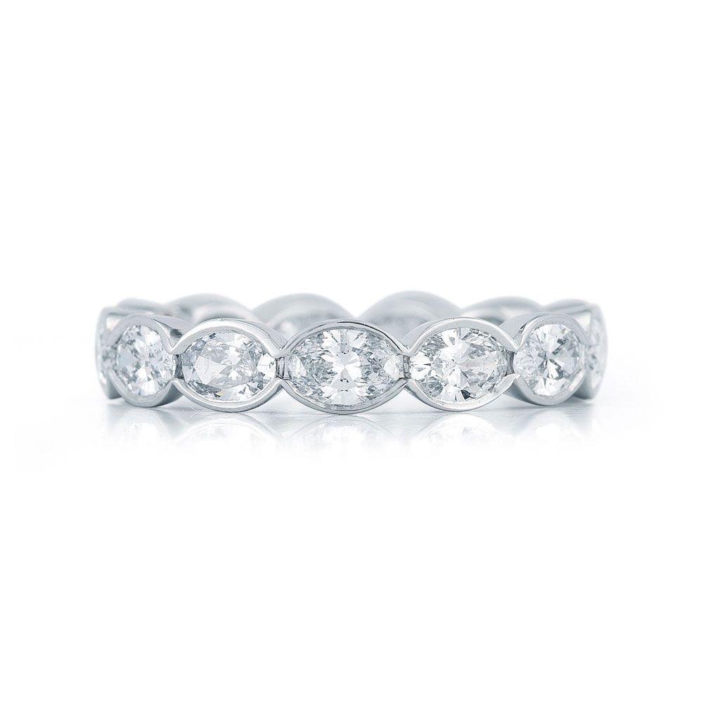 by Kwiat.....Oval diamond eternity band in a half bezel setting in ...