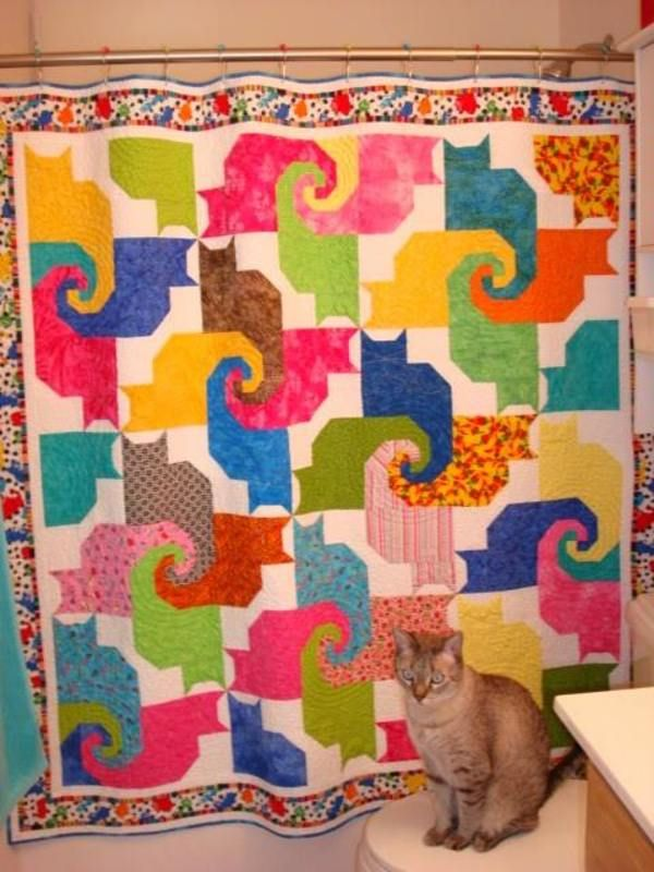 Cat Tails By Donna Cost Pdf Pattern Link At Site Quilting Love