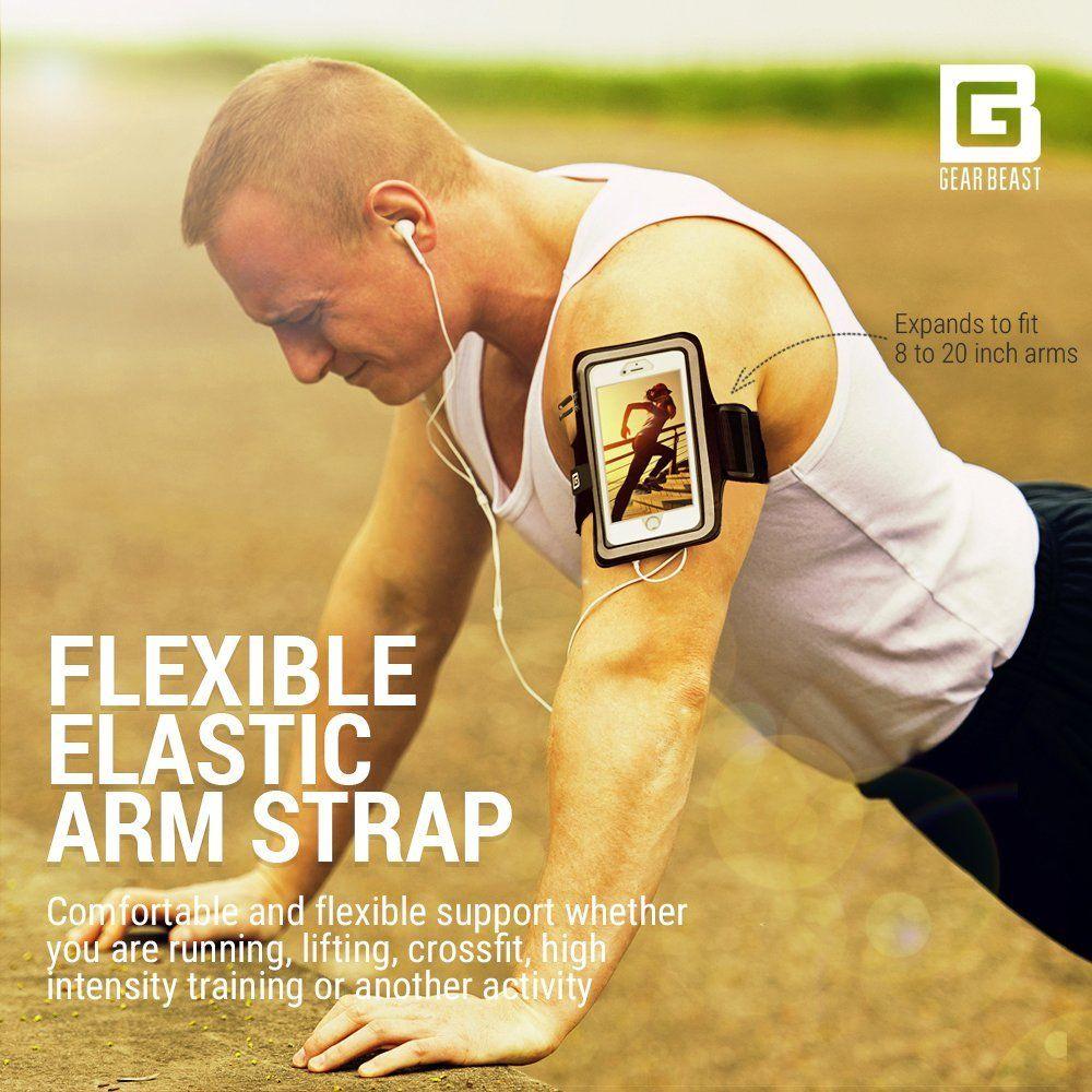 Gear beast iphone 7 sport running armband fingerprint