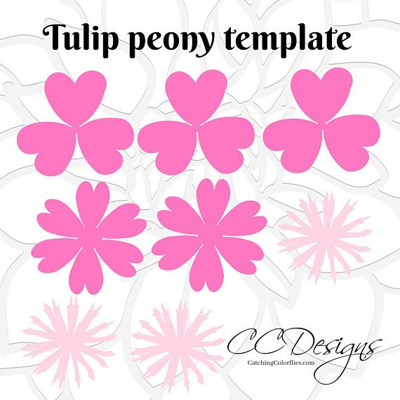small flower template patterns paper peony diy flower templates