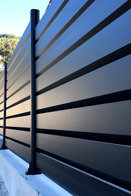 Cloture Aluminium En Kit Claustra Alu En 2020 Cloture Brise Vue Brise Vue Aluminium Cloture Aluminium