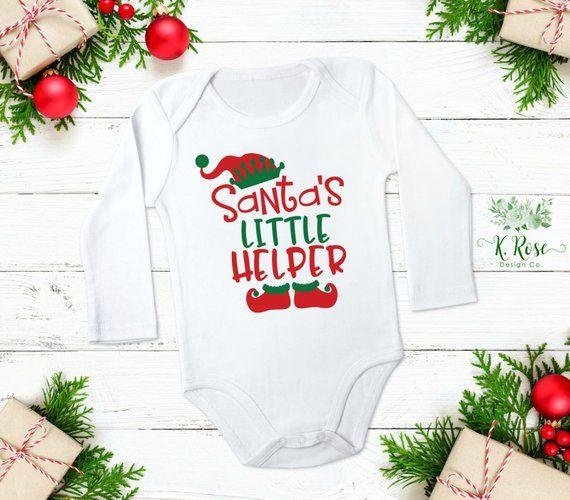 Baby Boys Santa\u0027s Little Helper Bodysuit, Santa\u0027s Little Helper