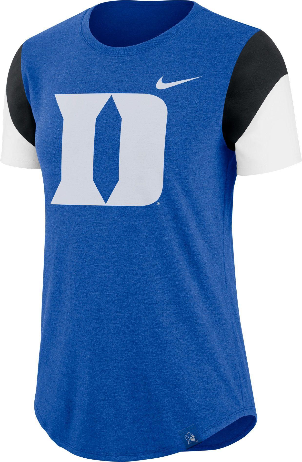 d49cafa9 Nike Women's Duke Blue Devils Duke Blue Tri-Blend Fan Crew T-Shirt, Multi