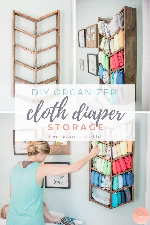 Diy Organizer For Cloth Diaper Storage Free Pattern Diy Organizer For Cloth Diaper Storage Fr In 2020 Cloth Diaper Storage Cloth Diaper Organization Diaper Storage