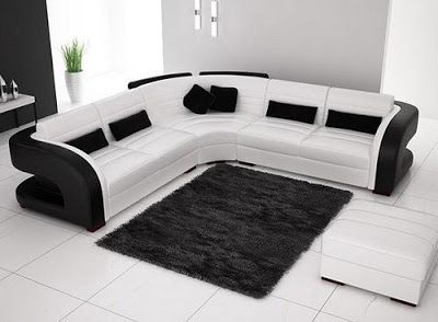 Black And White Sofa Set Designs For Modern Living Room