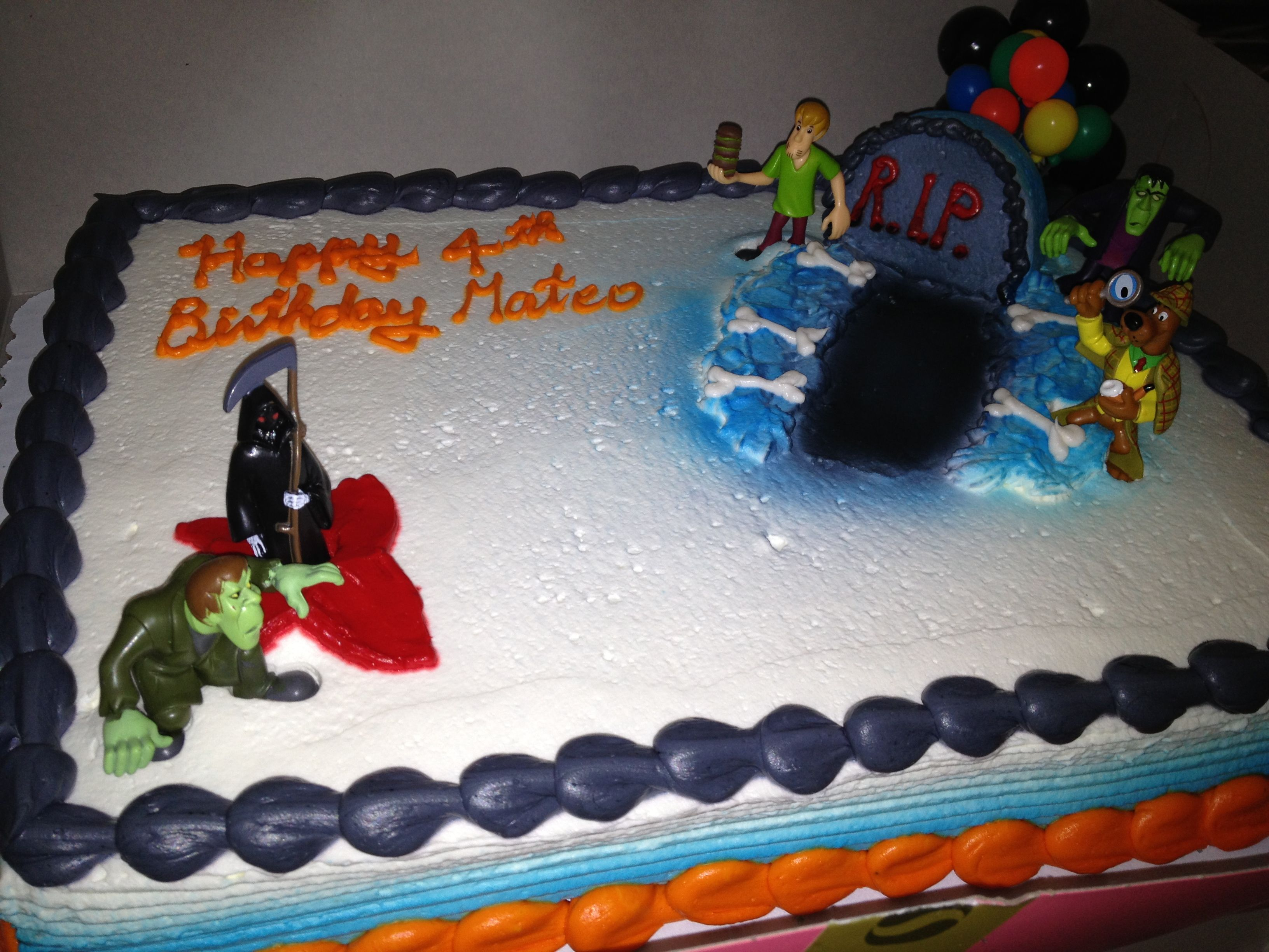 Scooby Cake my son picked the over the hill grim reaper cake at