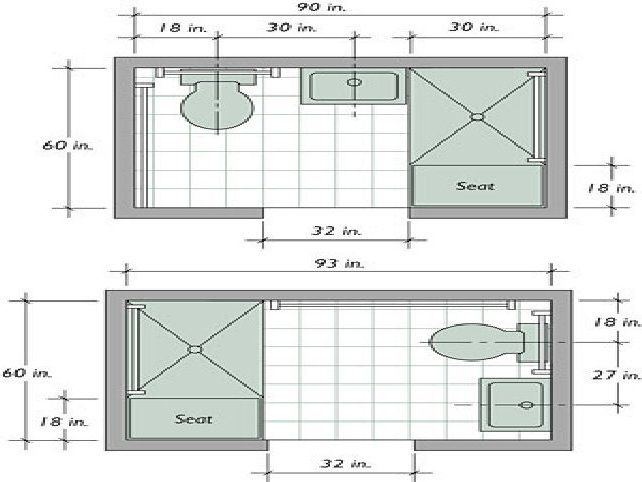 Small bathroom designs and floor plans bathroom design for Small bathroom design measurements
