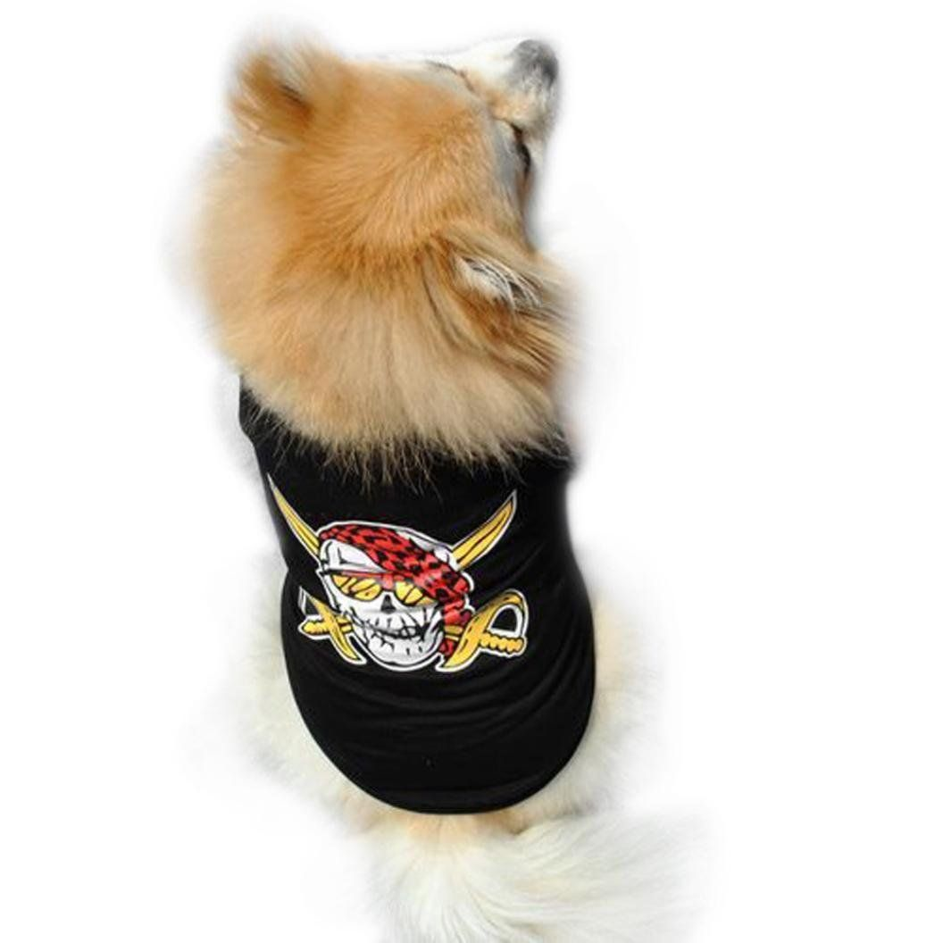 Kwok cute summer pet puppy small dog cat pet vest t shirt see