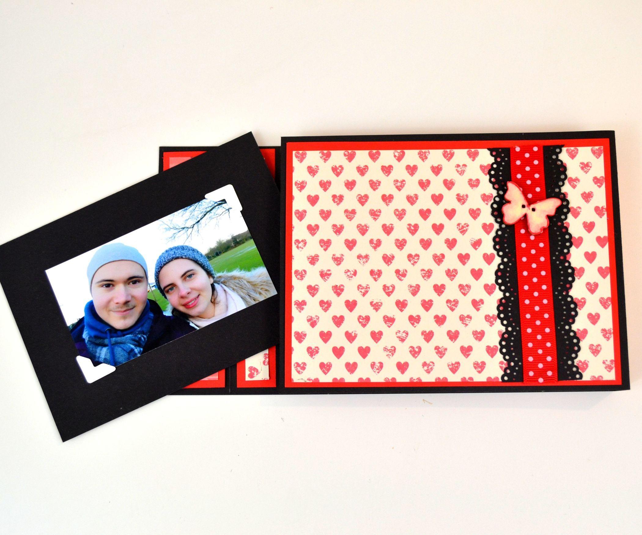 Diy crafts how to make a mini album card paper photo