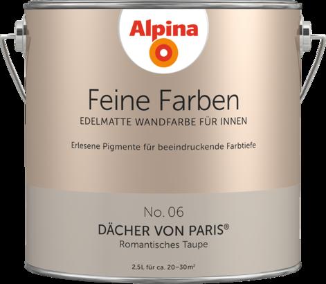 Gut Premium Wandfarbe. Braun, Graubraun: Alpina Feine Farben DÄCHER VON PARIS    Alpina