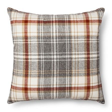 Throw Pillow Plaid Oversized   Threshold™ : Target