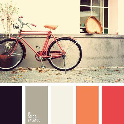 anaranjado y rojo, color bermejo, color pelirrojo zanahoria, coral, coral suave, elección del color, gris, gris y anaranjado, rojo, rojo coral, rojo y anaranjado, selección de colores, tonos cálidos.