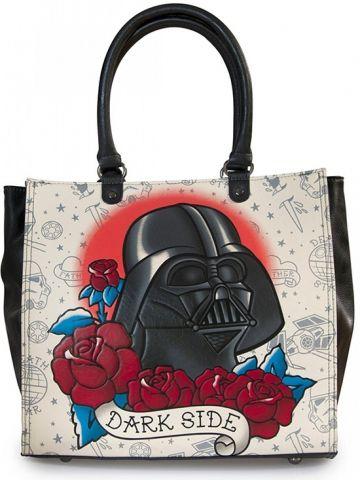"Star Wars ""Darth Vader Tattoo"" Tote by Loungefly (Black) #inkedshop #darkside #darthvader #roses #starwars #totebag #bags #design #art"