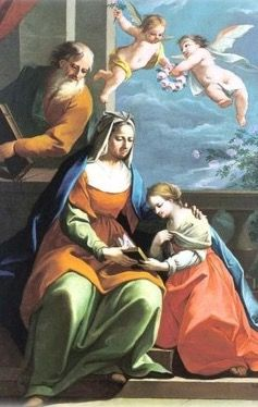 LA FAMILIA DE ANA, JOAQUÍN Y MARÍA