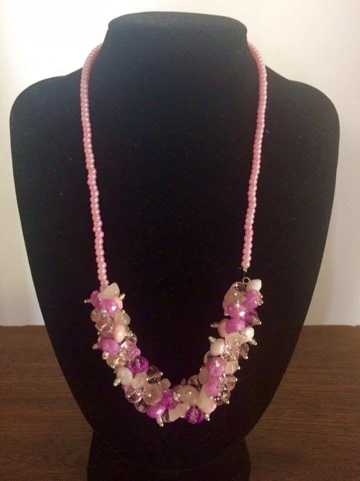 d0bf4e753ec0 Collar elaborado con piedra picada y cristal
