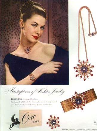 1940s Jewelry Styles And Trends To Wear 1940s Jewelry Jewelry Ads Vintage Costume Jewelry