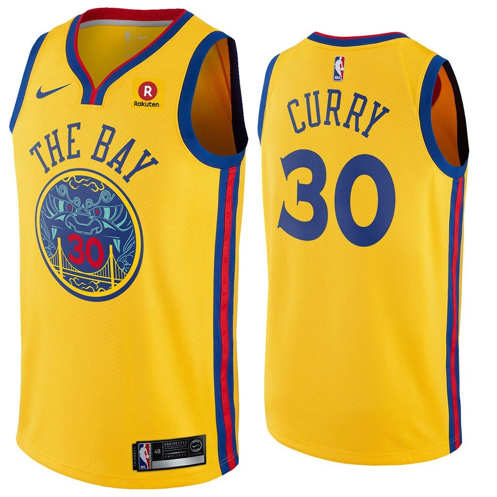Men s Golden State Warriors 30 Stephen Curry Jersey Yellow the Bay Fans  Swingman 8ce5ae500