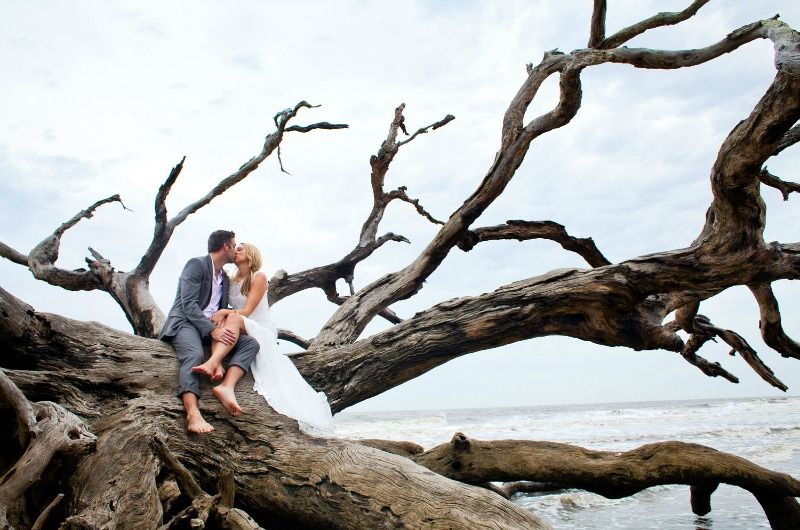 Jekyll Island Weddings Driftwood Beach Wedding And Reception Packages