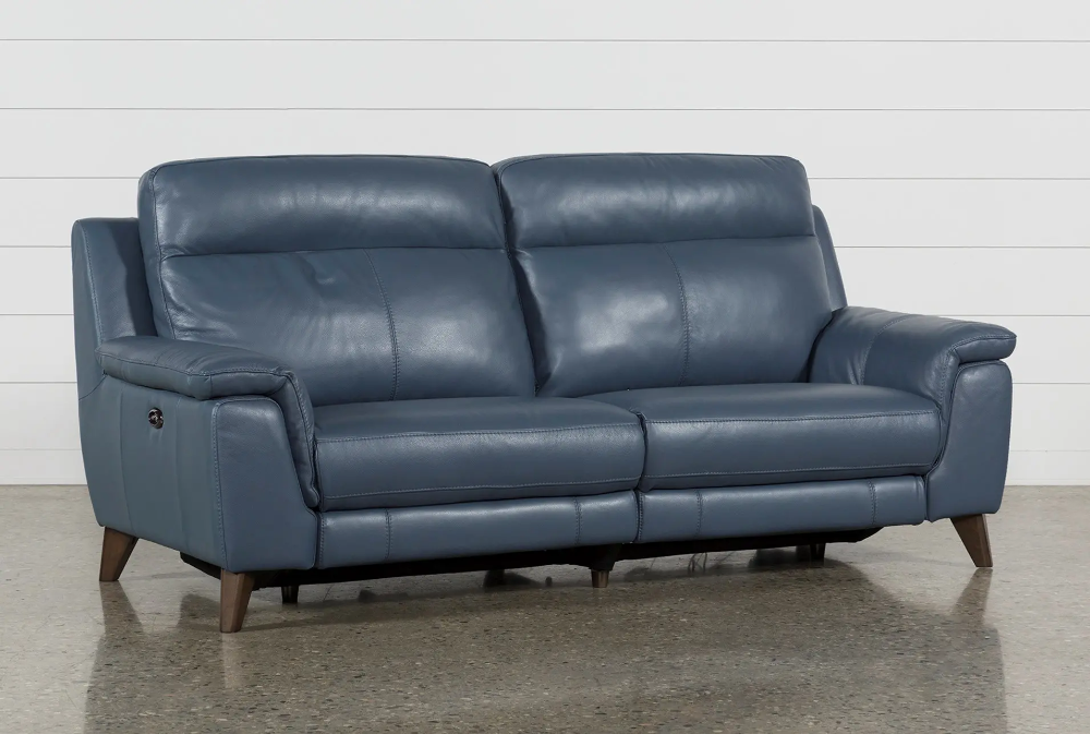 Dual Power Reclining Sofa With Usb Port Moana Blue 1095 Blue