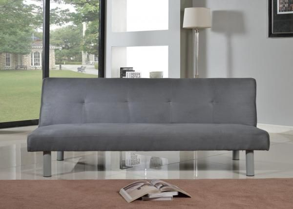 Faux Suede Canterbury Fabric Sofa Bed 3 Seater Click Clack In 4 Colours