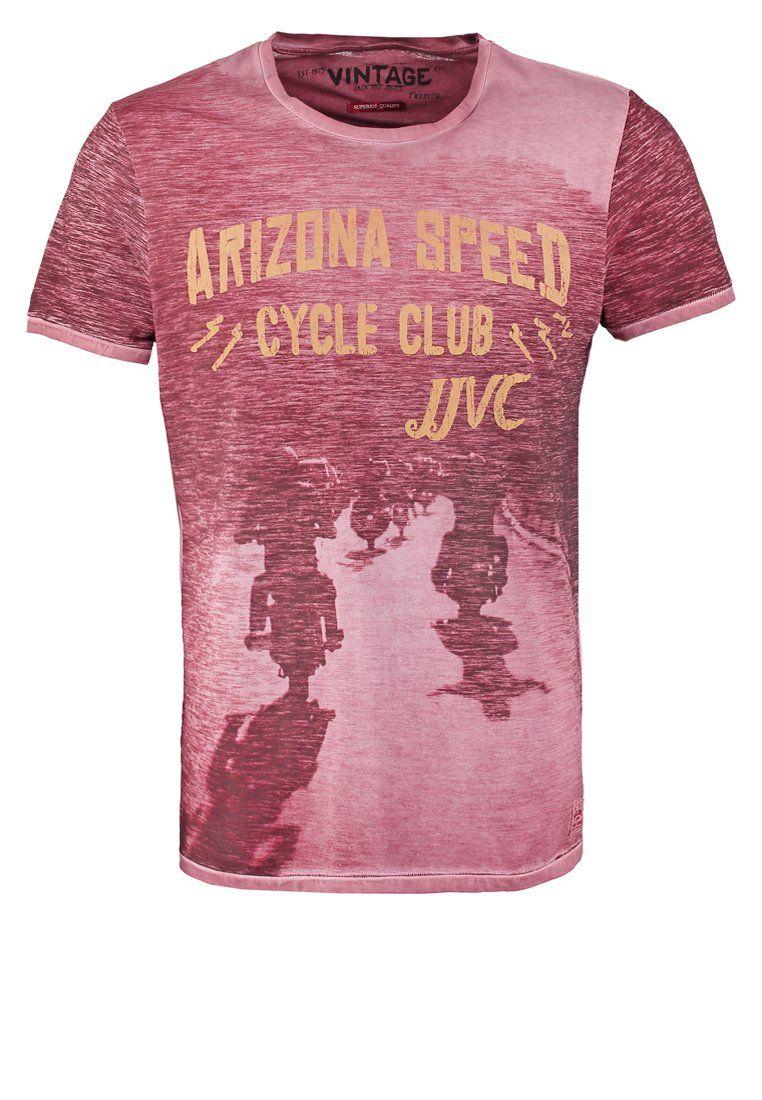 Jack & Jones JJVCFU ARZU - T-Shirt print - tabasco - Zalando.de