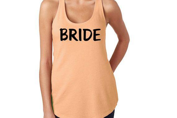 Bride Exercise Tank  Work Out Shirt Exercise by CardozaWood