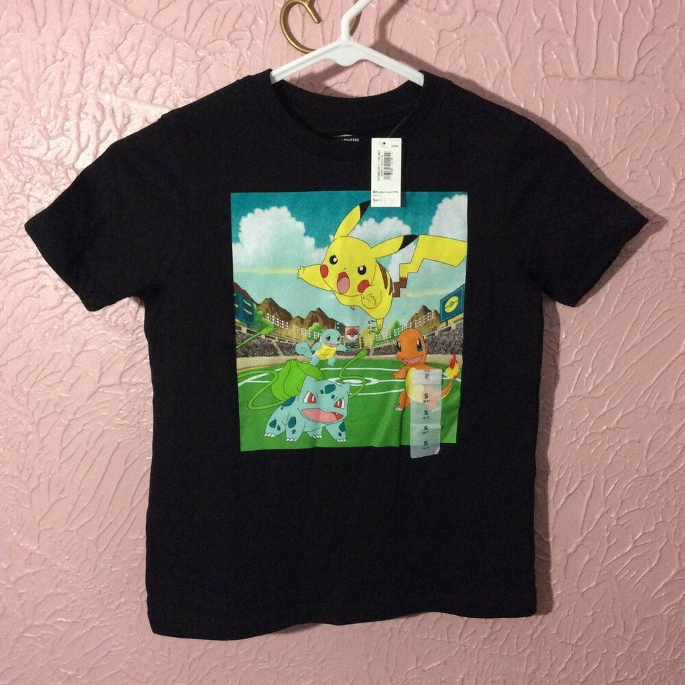 e0a5f094 Old Navy Collectabilitees Boys Pokemon T Shirt S 6-7 Black 100% Cotton New # OldNavy