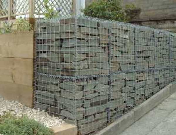 Creative stone wall ideas 3 outside pinterest stone Gabion wall design