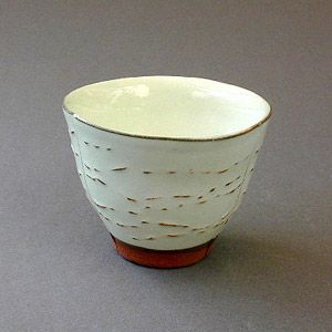 Tea cup series by husband and wife collaboration Satoru and Kayoko Hoshino from the savoir vivre gallery, Rappongi, Tokyo