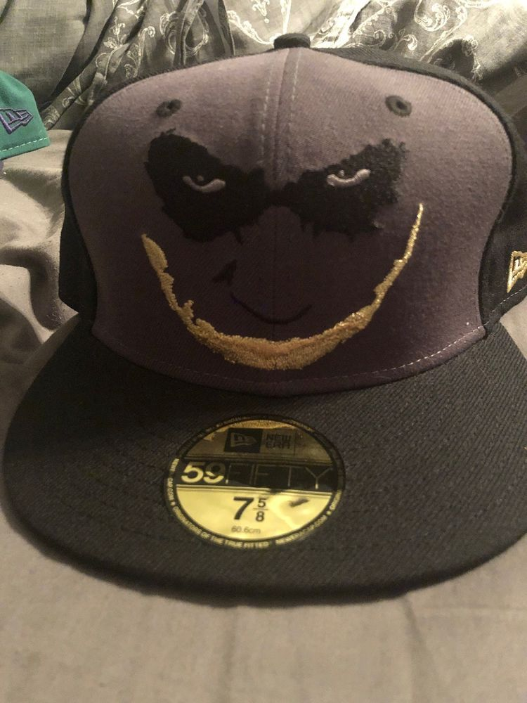 5b61d5e0c59 NEW ERA 59Fifty JOKER The Dark Knight 7 5 8. Brand New Tags Still On.   fashion  clothing  shoes  accessories  mensaccessories  hats (ebay link)