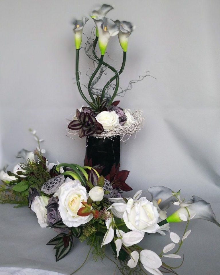 Bukiet Na Pomnik Szaro Bialy Nr 106 Swiateczne Atelier Floral Wreath Floral Decor
