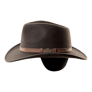 RedHead® Wool Felt Leather Trim Hat with Earflaps for Men  55202612556