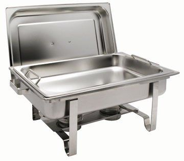 Get-A-Grip Chafing Dish with Special Safety Feature - Oblong 8 Qt. by DWL. $57.00. Winco Oblong Chafing Dish Get-A-Grip Chafing Dish with Special Safety Features: Stainless steel construction; Patented food pan; Handles on the food pan make for easy transport and help avoid steam burns.