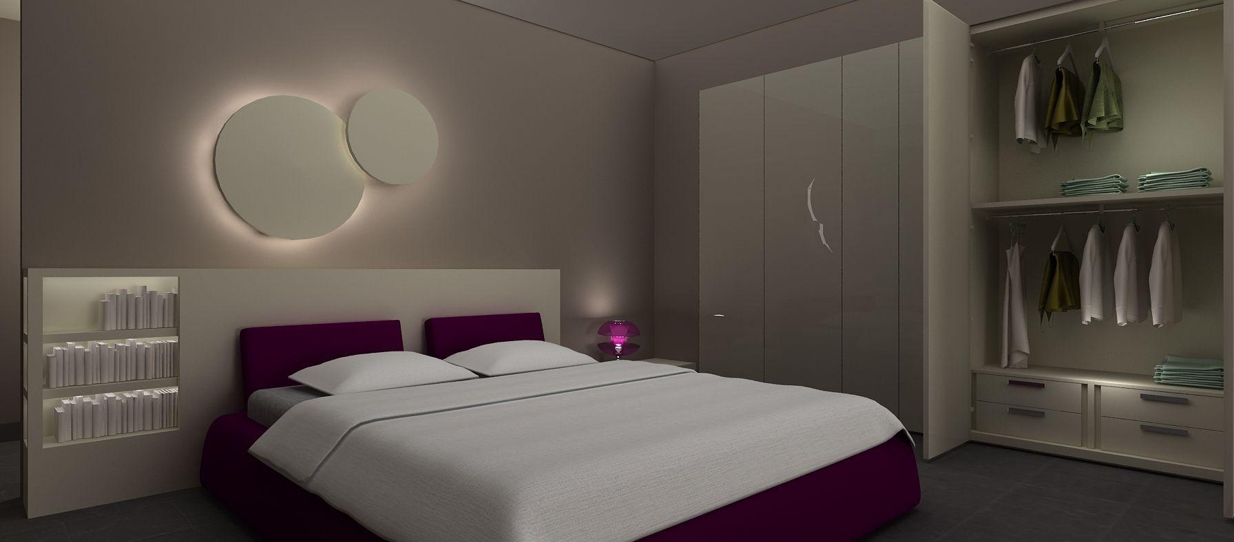 Il progetto prevede una sorta di parate attrezzata in - Cartongesso stanza da letto ...
