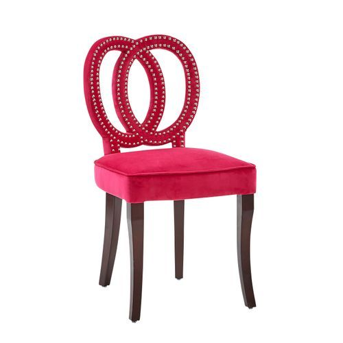 Lily Hot Pink Circle Vanity Stool | Pink office chair ...