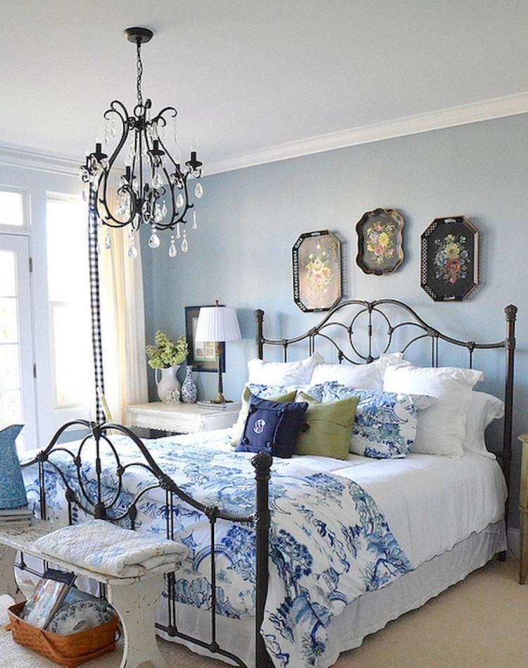 Farmhouse Rustic Master Bedroom Ideas Country Bedroom Woman Bedroom Blue Bedroom Walls Rustic blue bedroom ideas