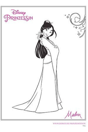 Disney Prinzessin Mulan Disney Paintings Disney Coloring