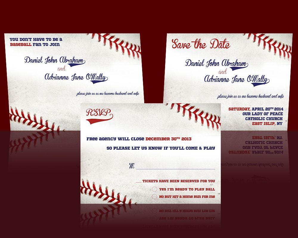 Baseball Wedding Invitation design - from Etsy by cfergodesigns