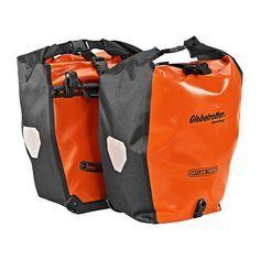 Fahrradtaschen Back Roller Orange Line Von Ortlieb Die Halten Dicht Hinterradtaschen Mit Rollverschluss Fiets