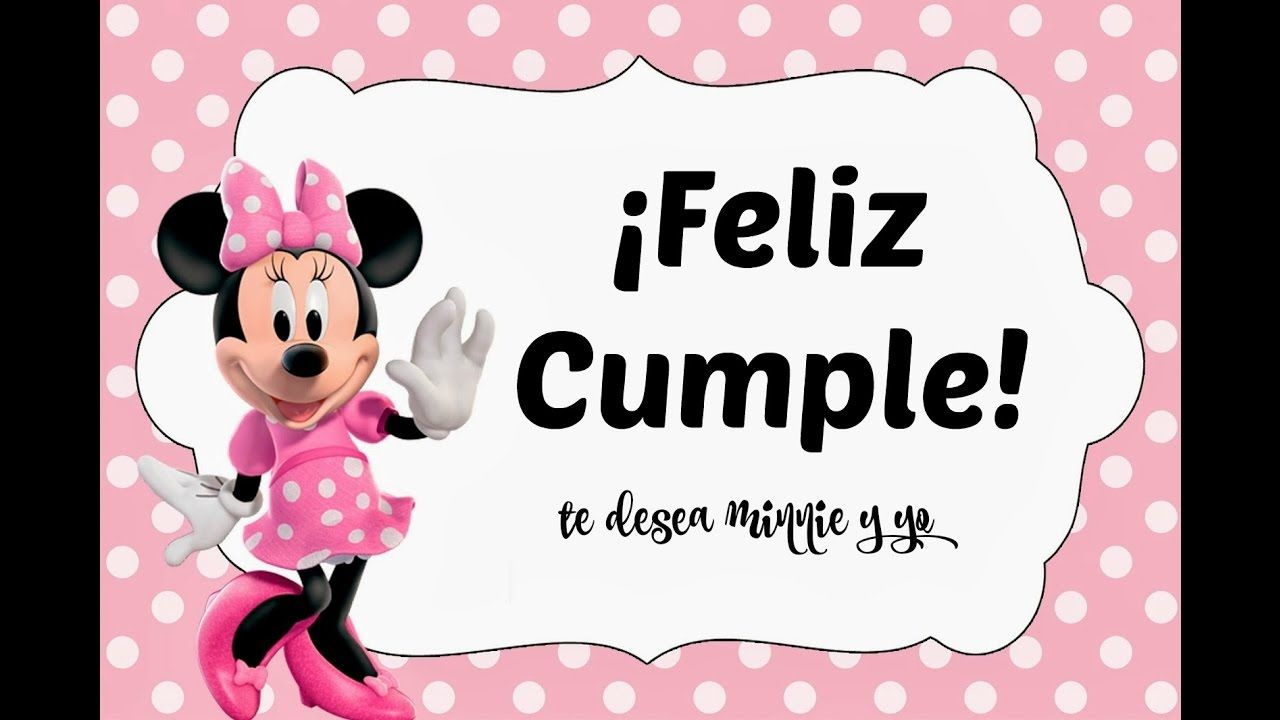 Canción tradicional de Feliz Cumpleaños Minnie Mouse para niños ...