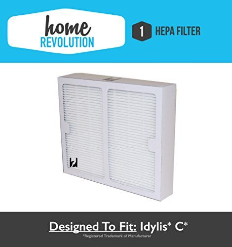 Carbon 2 Replacement Hepa Air Purifier Filter for Idylis B IAFH100B IAF-H-100B