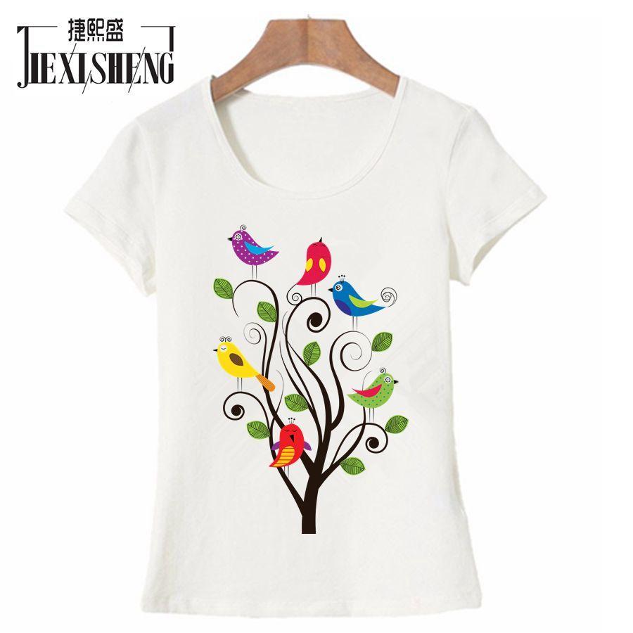 Damen O Neck Kurzarm Floral Tops Hemd Cotton Freizeit Lose Bluse T Shirts Plus