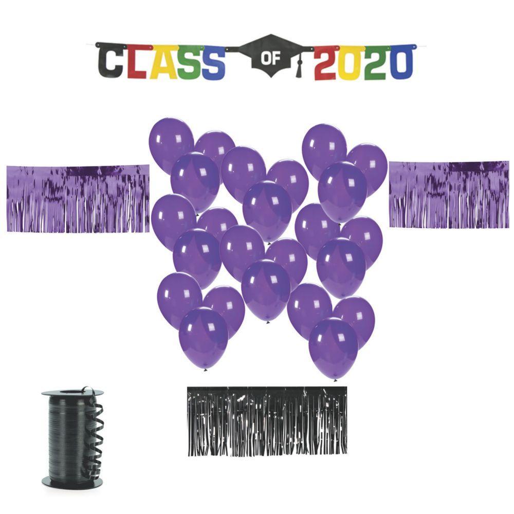 Purple Graduation Car Parade Decorating Kit