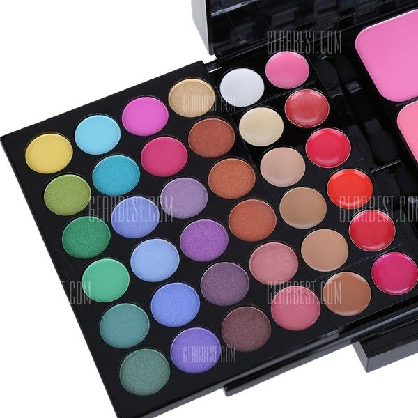 78 Colors Waterproof Long Lasting Eyeshadow Palette ($12) ❤ liked on Polyvore featuring beauty products, makeup, eye makeup and eyeshadow