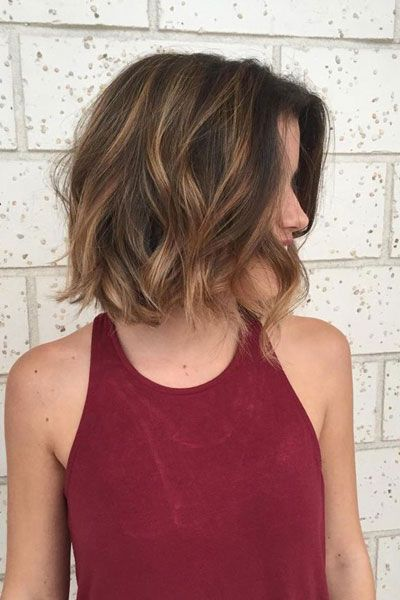 62 Popular Short Hairstyles For Fine Thin Hair Beach Waves With Balayage Highlights Ms Ful Wavy Bob Hairstyles Above Shoulder Length Hair Thick Hair Styles