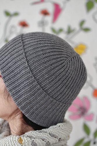 1x1 Rib Hat pattern by Scott Scholz