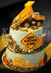 Dump Truck Birthday Cake Lets here it for the boys Pinterest
