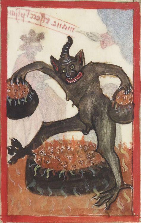full cauldronsSpeculum humane salvationis, Alsace(?) ca. 1400BnF, Latin 9585, fol. 46v